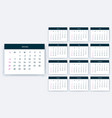 simple calendar 2019 yesr stock design vector image vector image