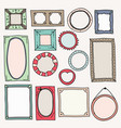 Sketch color frames vintage photo frame hand