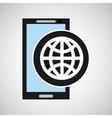 social media mobile app globe design vector image vector image