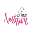 Spring fashion Fashionable phrase in brush vector image vector image