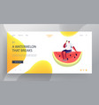 summer time website landing page young man vector image vector image