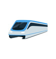 super streamlined high speed train locomotive vector image vector image