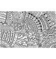 surreal doodle pattern for coloring book vector image vector image