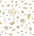 tea coffee and sweets seamless pattern vector image