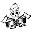 vintage lumberjack labels emblems and design vector image