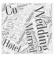 Why Use a Hotel Wedding Co Word Cloud Concept vector image vector image