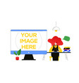 workflow management - flat design style colorful vector image vector image