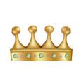 yellow golden crown vector image