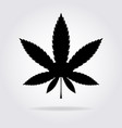 cannabis or marijuana leaf black flat icon with vector image