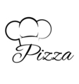 Pizza Chef Hat Lettering Text Pizza Design Element vector image