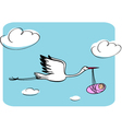 stork with the kid vector image