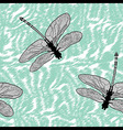 Dragonfly seamless background isolated high qualit vector image