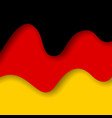 abstract waving germany flag creative background vector image vector image