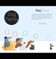 Animal banner with Dog for web design 2 vector image vector image