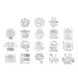 best quality catering service set of hand drawn vector image