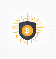 bitcoin security flat concept vector image vector image