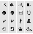 black sewing icon set vector image vector image