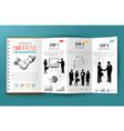 Business infographics brochure vector image vector image
