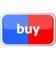 buy word on web button icon isolated on vector image vector image