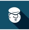 Cartoon immigrant head icon vector image vector image