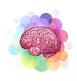 cartoon of human brain with vector image vector image