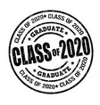 class 2018 stamp vector image vector image