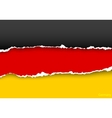 design flag germany from torn papers with shadows vector image vector image