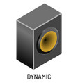 dynamic or speaker music record studio equipment vector image vector image