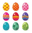 easter eggs in multicolor vector image vector image