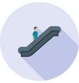 escalator vector image vector image