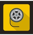 Film reel icon in flat style vector image vector image