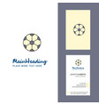 football creative logo and business card vertical vector image vector image