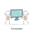 freight forwarder has a TV vector image vector image