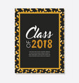 graduation class of 2018 greeting card and vector image