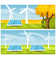 green energy concept vector image vector image