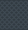 grey seamless background with diamond pattern vector image