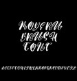 hand drawn elegant calligraphy font with curl vector image