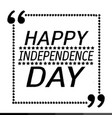 happy independence day design vector image vector image