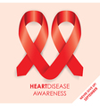 heart disease ribbon vector image