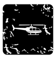 Helicopter icon grunge style vector image vector image