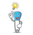 idea safety pin mascot cartoon vector image