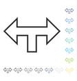 junction arrow left right icon vector image vector image
