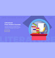 literature free online courses website page info vector image