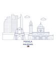 manila city skyline vector image