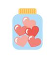mason jar bottle with hearts vector image vector image