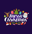 merry christmas banner or greeting card xmas vector image
