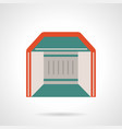 mobile pavilion flat color icon vector image vector image
