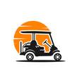 modern golf cart transportation logo vector image
