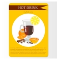 Mulled wine cocktail menu item or sticker vector image vector image