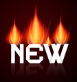 New Burning Title in Flames vector image vector image